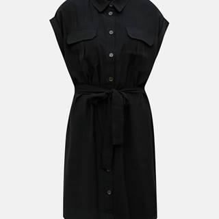 Čierne košeľové šaty VERO MODA Venus