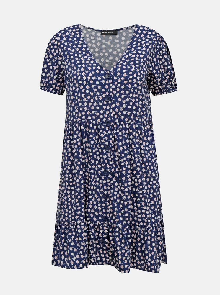 TALLY WEiJL Modré kvetované šaty TALLY WEiJL