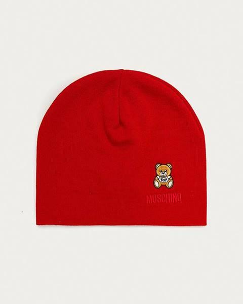 Červená čiapka Moschino