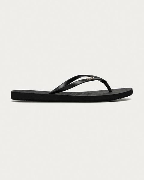 Čierne sandále Roxy
