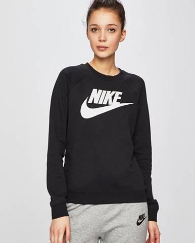 Čierna mikina s nápisom Nike