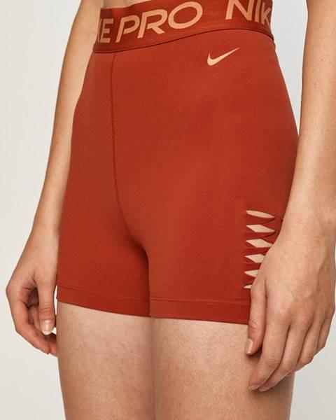 Oranžové šortky Nike