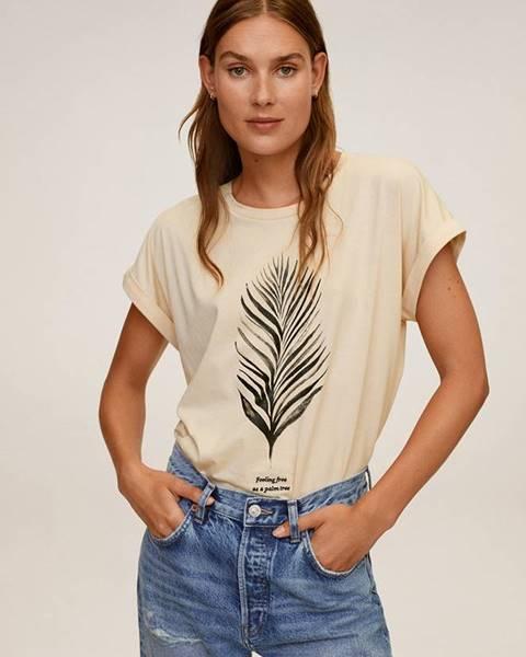 Biele tričko Mango
