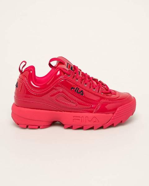 Fialové topánky Fila