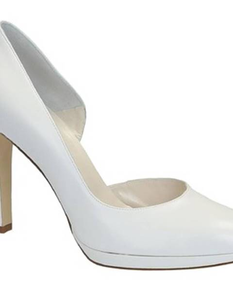 Biele lodičky Leonardo Shoes