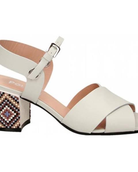 Biele sandále Studio Pollini