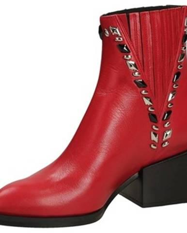Červené topánky Giampaolo Viozzi