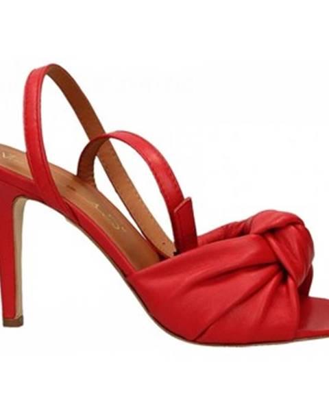 Červené sandále Via Roma 15