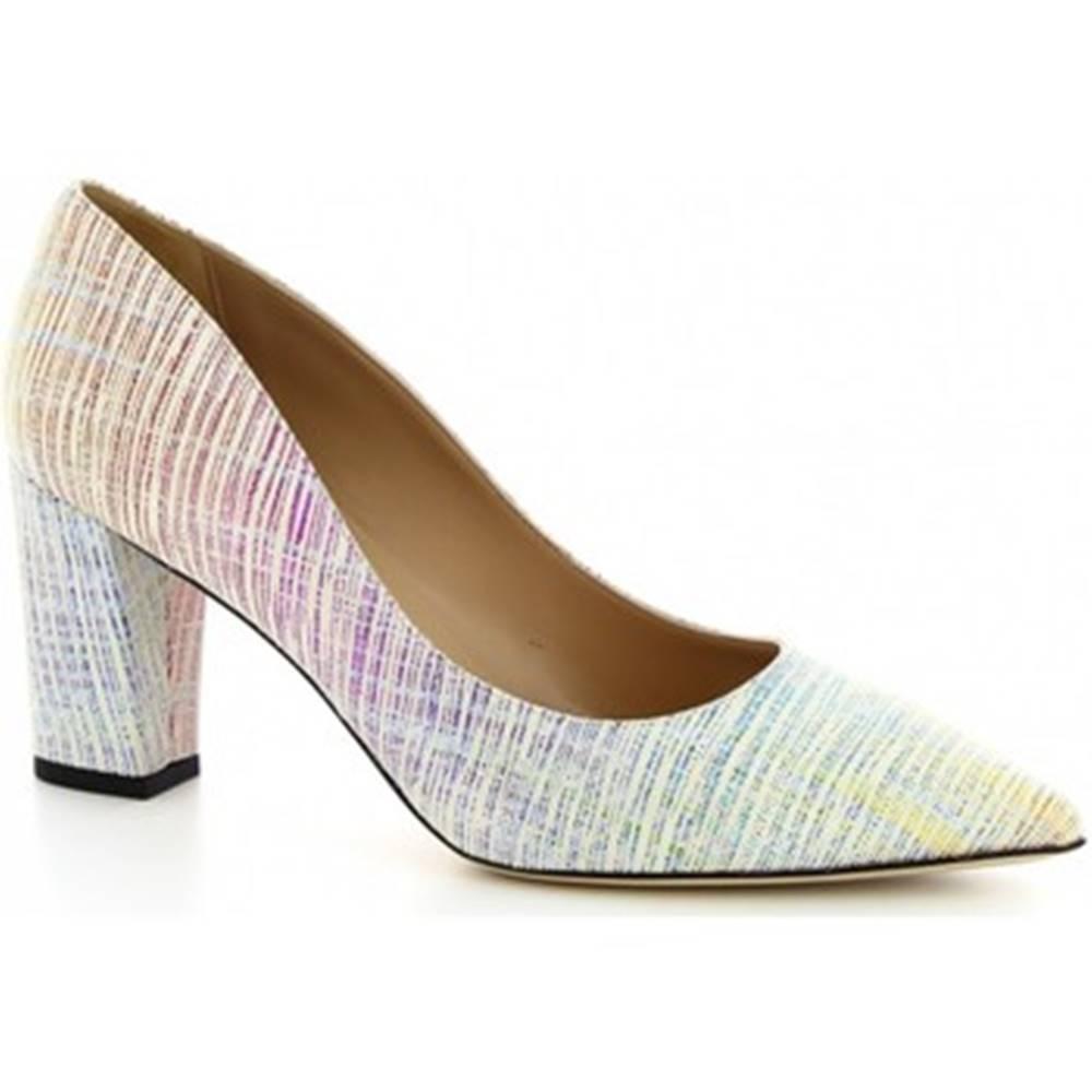 Leonardo Shoes Lodičky  CINDY PRISM BIANCO