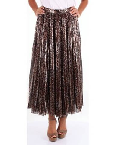 Hnedá sukňa Msgm