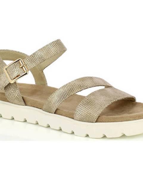 Zlaté sandále Kimberfeel