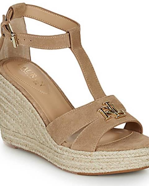 Béžové sandále Lauren Ralph Lauren