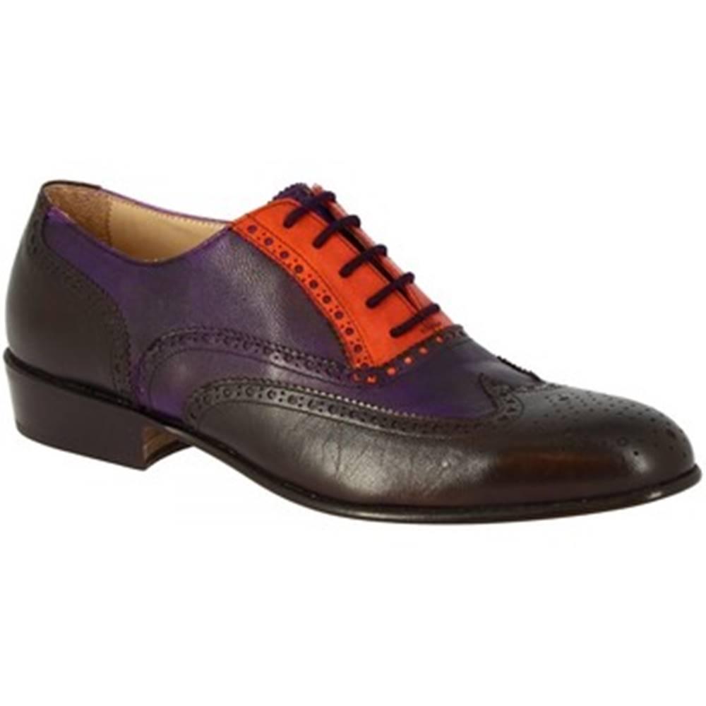 Leonardo Shoes Derbie  PINA 037 VIOLA/ARANCIO/T. MORO