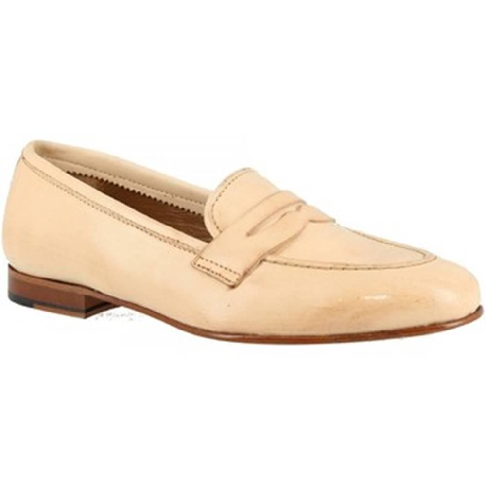 Leonardo Shoes Mokasíny  TOR04 MONTONE NAT