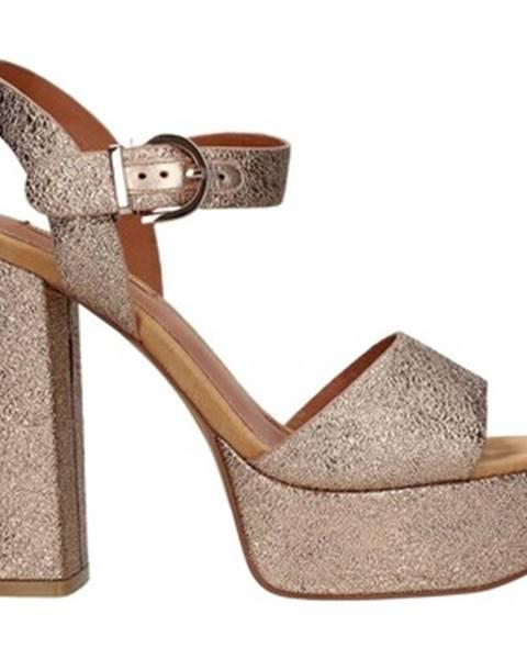Zlaté sandále Luciano Barachini
