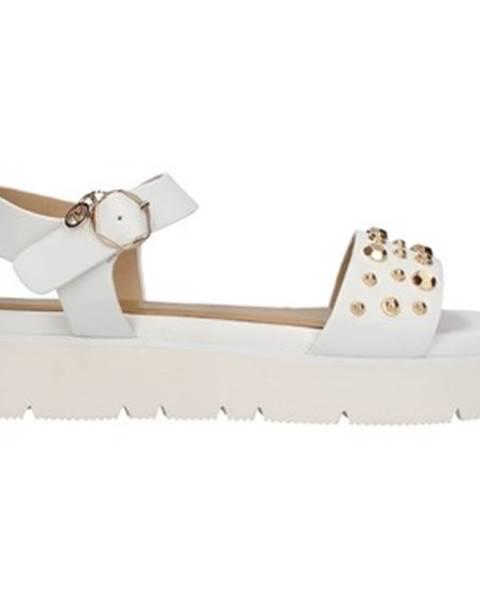 Biele sandále Gattinoni