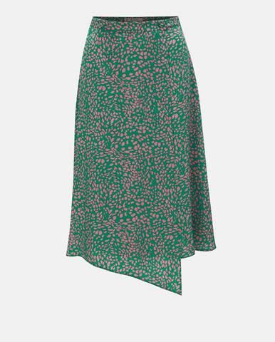 Zelená sukňa Miss Selfridge Petites