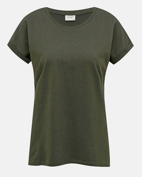 Tmavozelené tričko Jacqueline de Yong