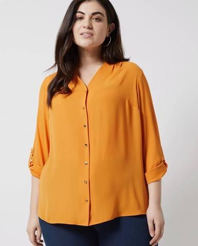 Oranžová blúzka Dorothy Perkins Curve