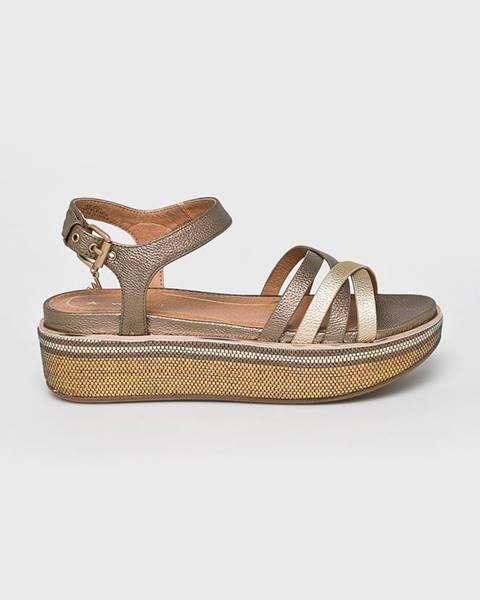 Zlaté sandále Wrangler