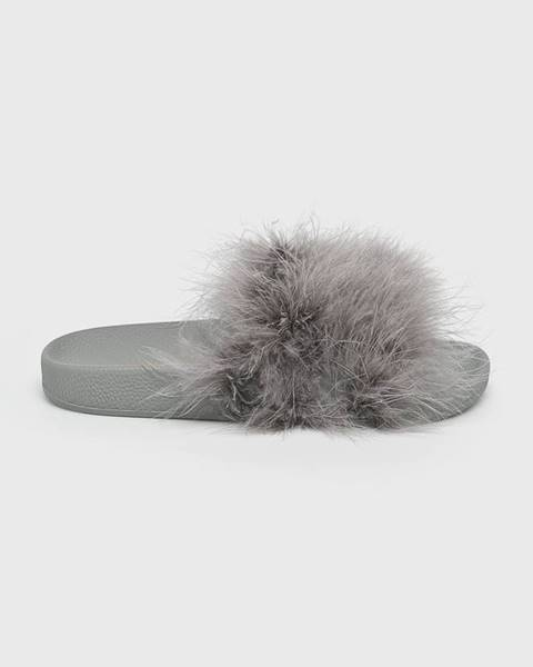Sivé sandále TheWhiteBrand