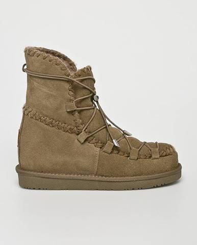 Zelené zimná obuv Gioseppo