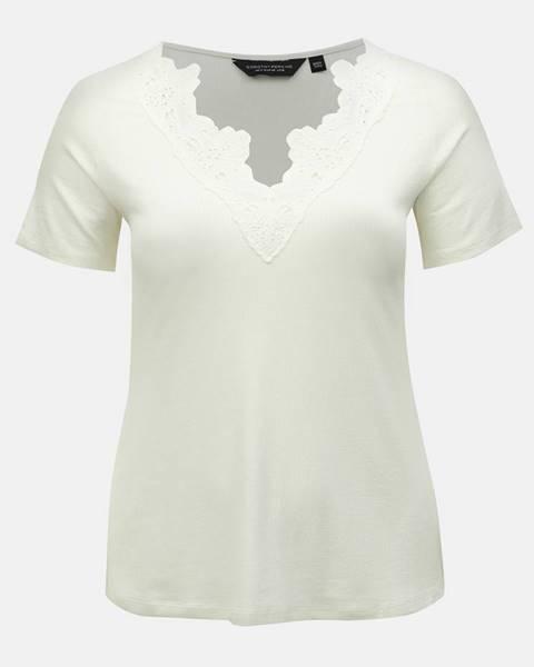 Biele tričko Dorothy Perkins Curve