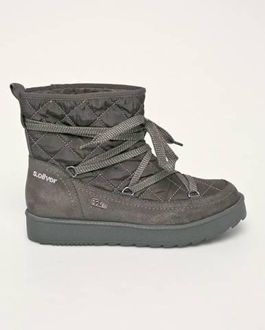 Sivé zimná obuv S.Oliver