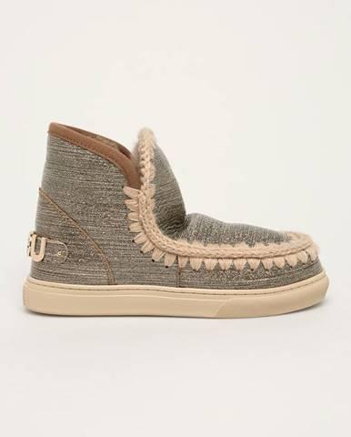 Strieborné zimná obuv Mou