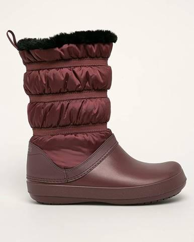 Burgundské zimná obuv Crocs