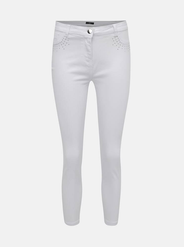 M&Co Petite Biele skrátené džíny s ozdobnými detailmi M&Co Petite