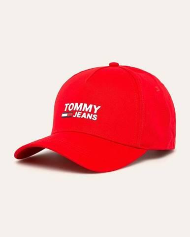 Červená čiapka Tommy Jeans