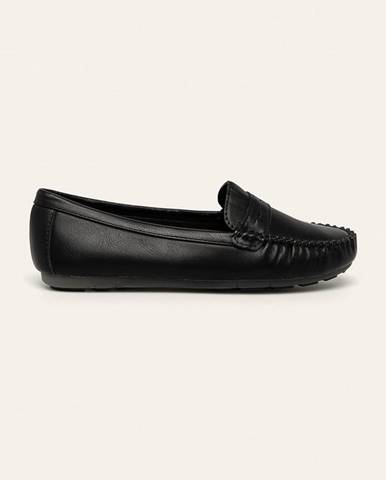 Čierne mokasíny Answear