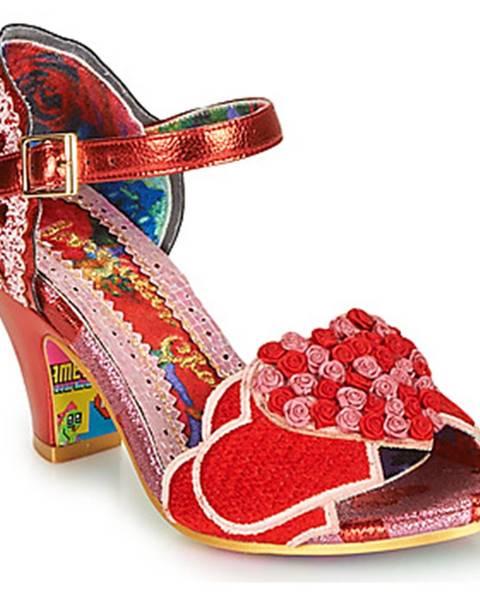 Červené sandále Irregular Choice