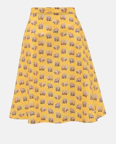 Žltá sukňa annanemone
