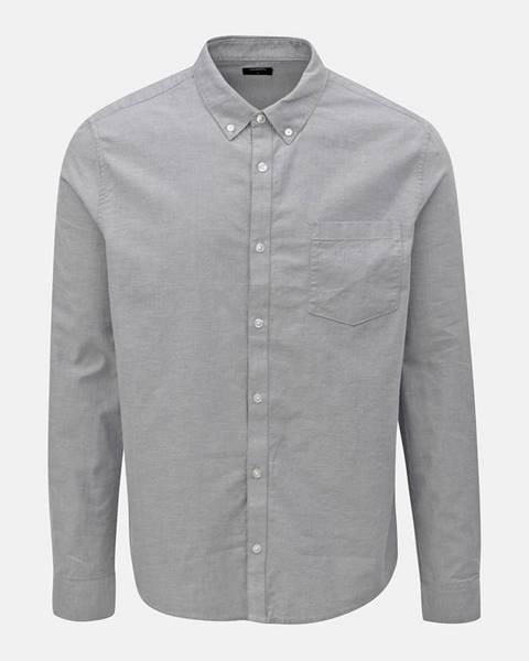 Sivá košeľa Burton Menswear London