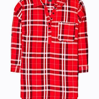 Károvaná košeľa s náprsným vreckom