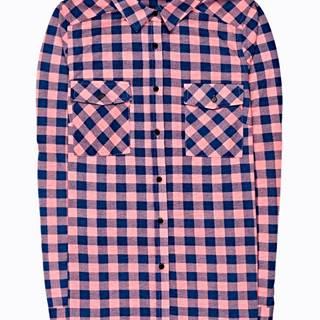 Kockovaná košeľa s náprsnými vreckami