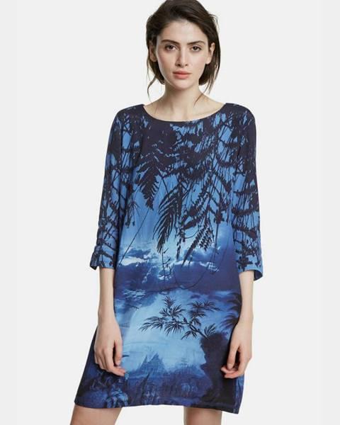 Tmavomodré šaty Desigual