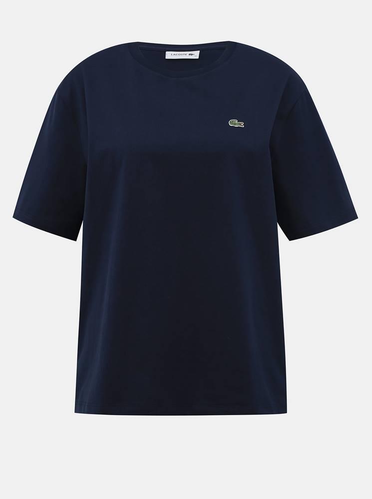 Lacoste Tmavomodré dámske basic tričko Lacoste