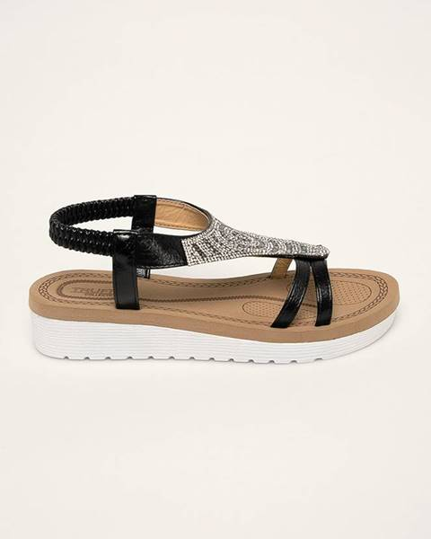 Čierne sandále Truffle Collection
