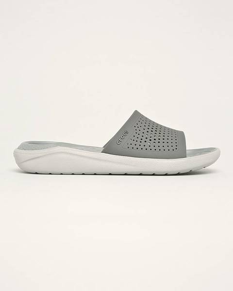 Sivé sandále Crocs