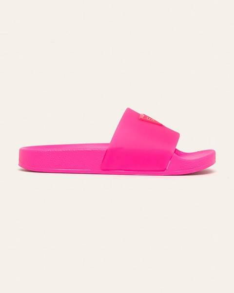 Ružové sandále Guess Jeans