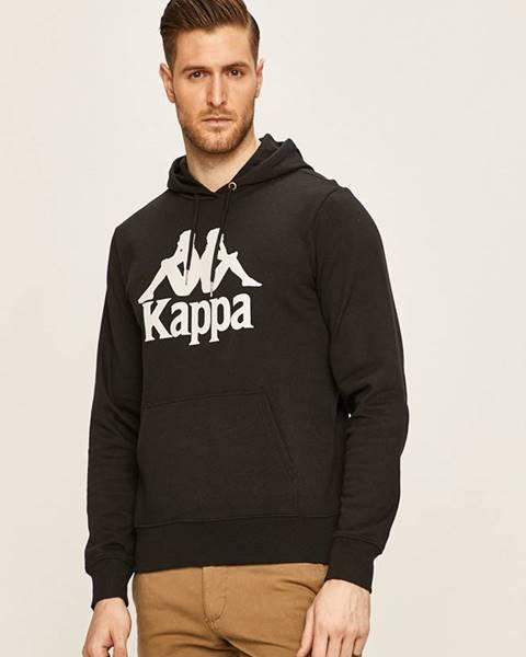 Čierna bunda s kapucňou Kappa