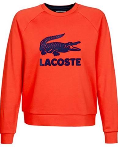 Červená mikina Lacoste