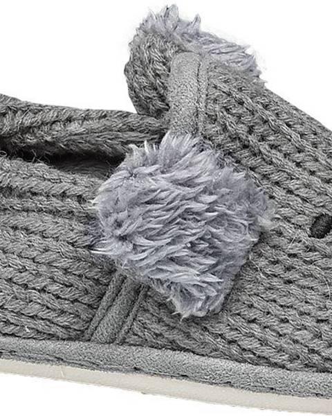 Sivé papuče Bobbi-Shoes