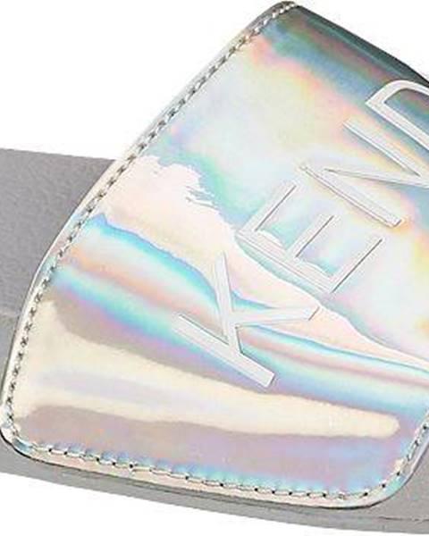 Sivé sandále Kendall + Kylie