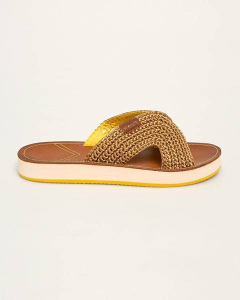Žlté sandále Gant