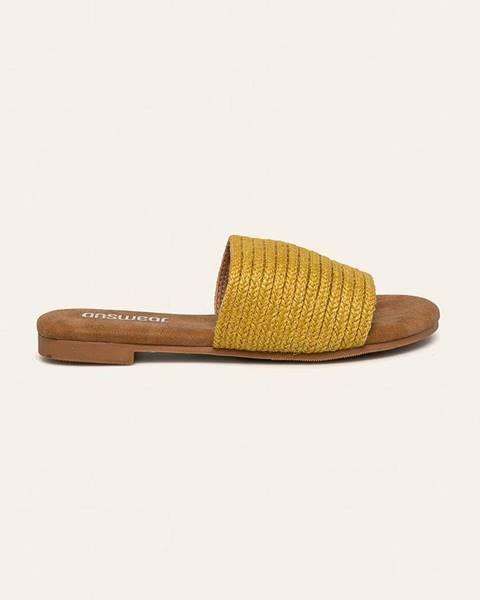 Žlté sandále Answear