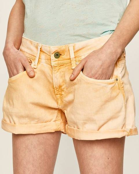 Oranžové šortky Pepe jeans